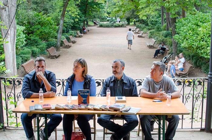Mesa redonda sobre novela negra en la Feria del Libro de Jaca © Fotografía de Carles Domènec